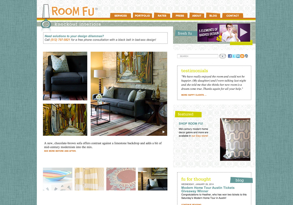 Website Development For Award Winning Austin Interior Design