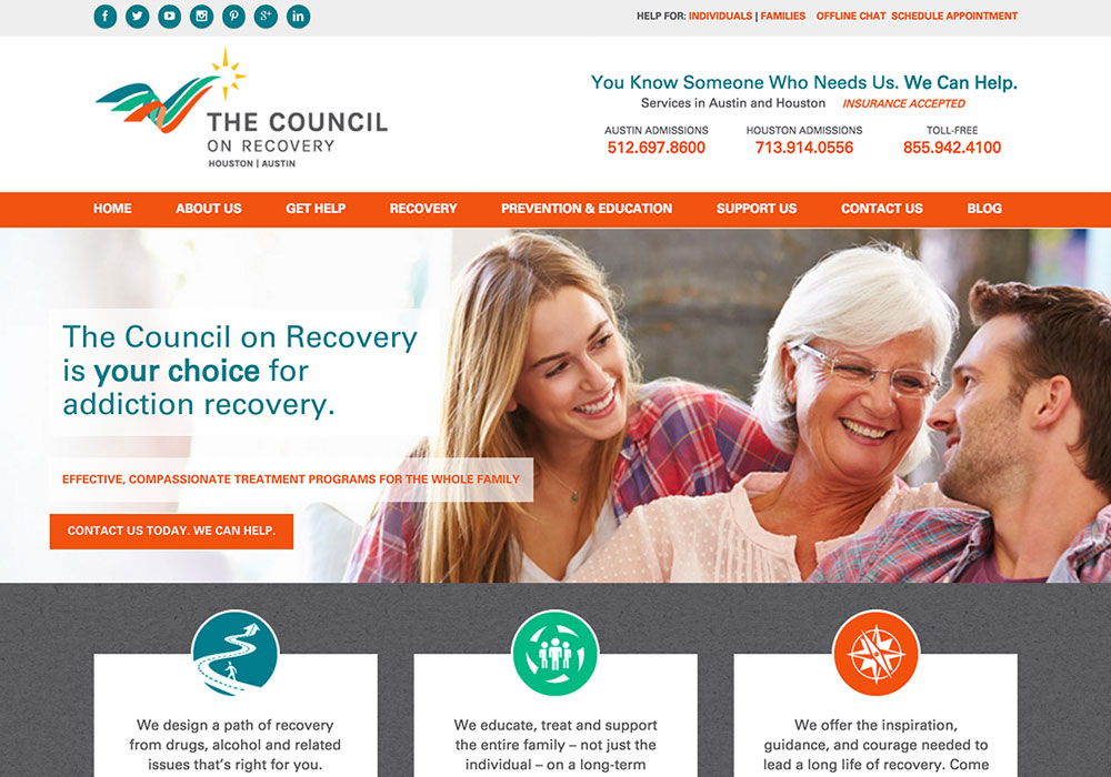 The Council on Recovery Website