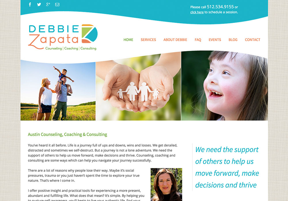 Debbie Zapata Website