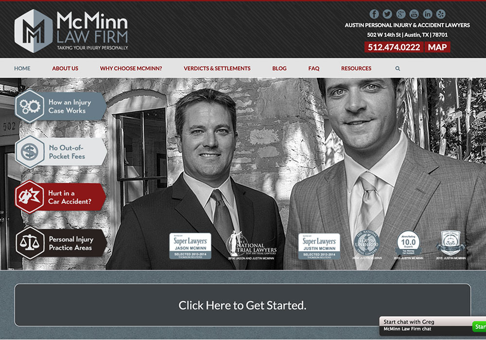McMinn Law Firm Website