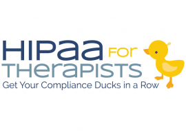 HIPAA for Therapists Logo