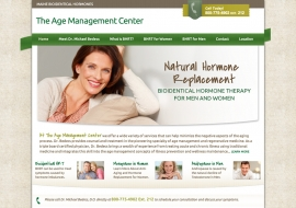 Age Management Medical Website