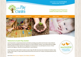 Austin Play Garden Website
