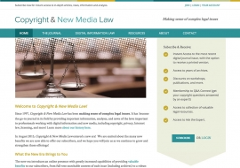 Copyright and New Media Law Website