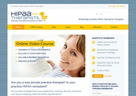 HIPAA for Therapists Website