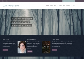 Lori Rader-Day Website Design