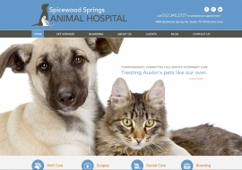 Spicewood Springs Animal Hospital Website
