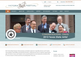 Victoria Bach Festival Website
