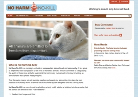 ASPCA's No Harm, No Kill Website