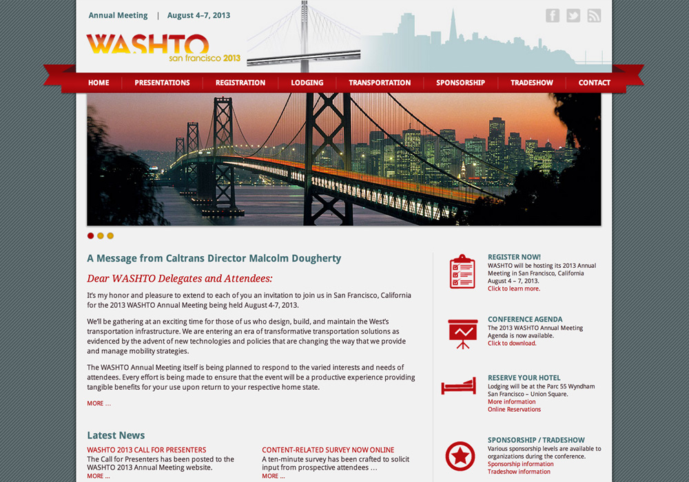 WASHTO Convention Website