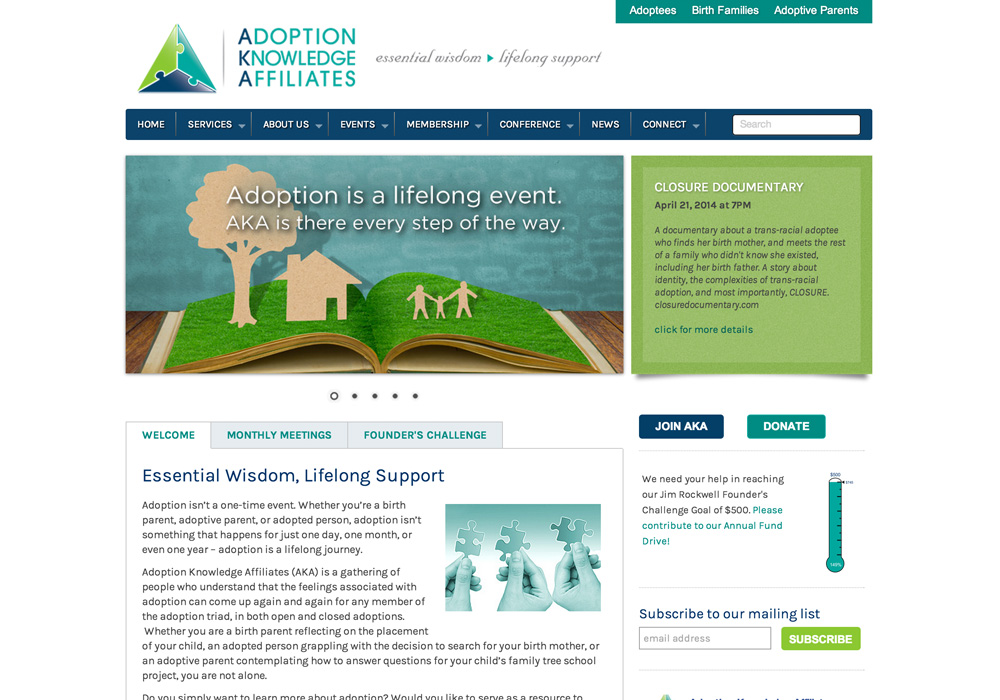 Adoption Knowledge Affiliates Website