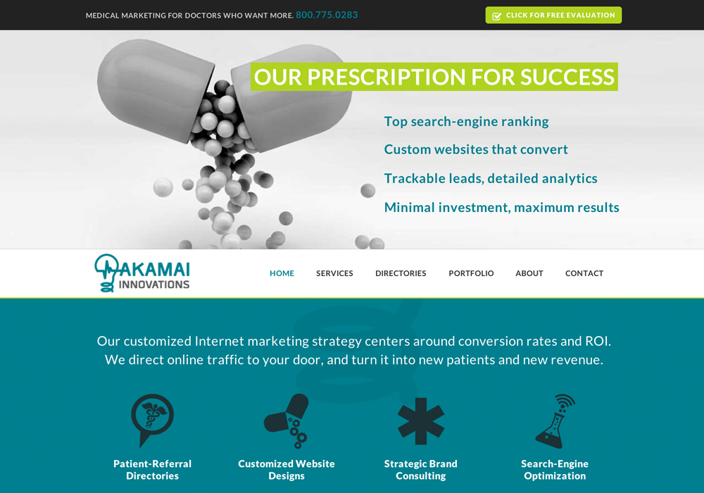 Akamai Innovations Website