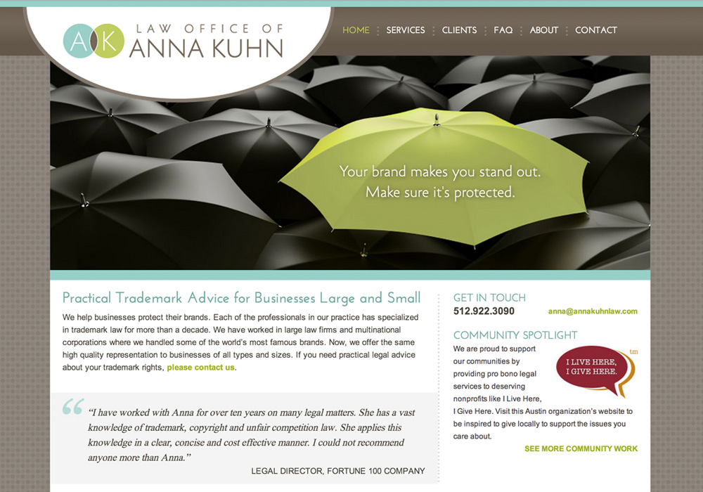 Anna Kuhn Law Website
