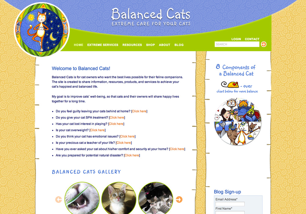 Balanced Cats Website