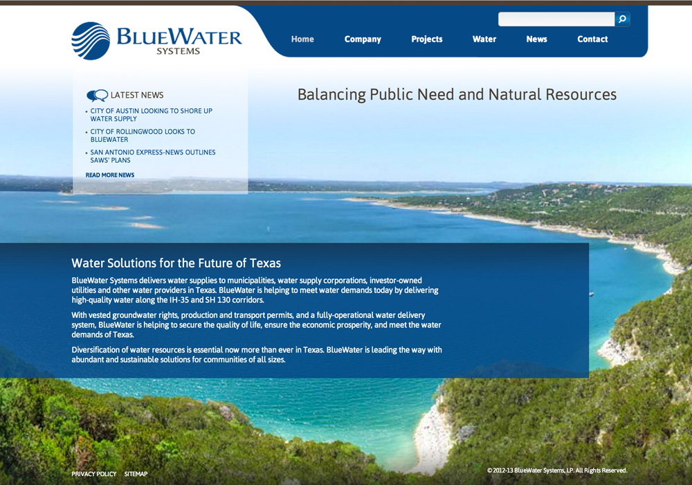 Bluewater Systems Website