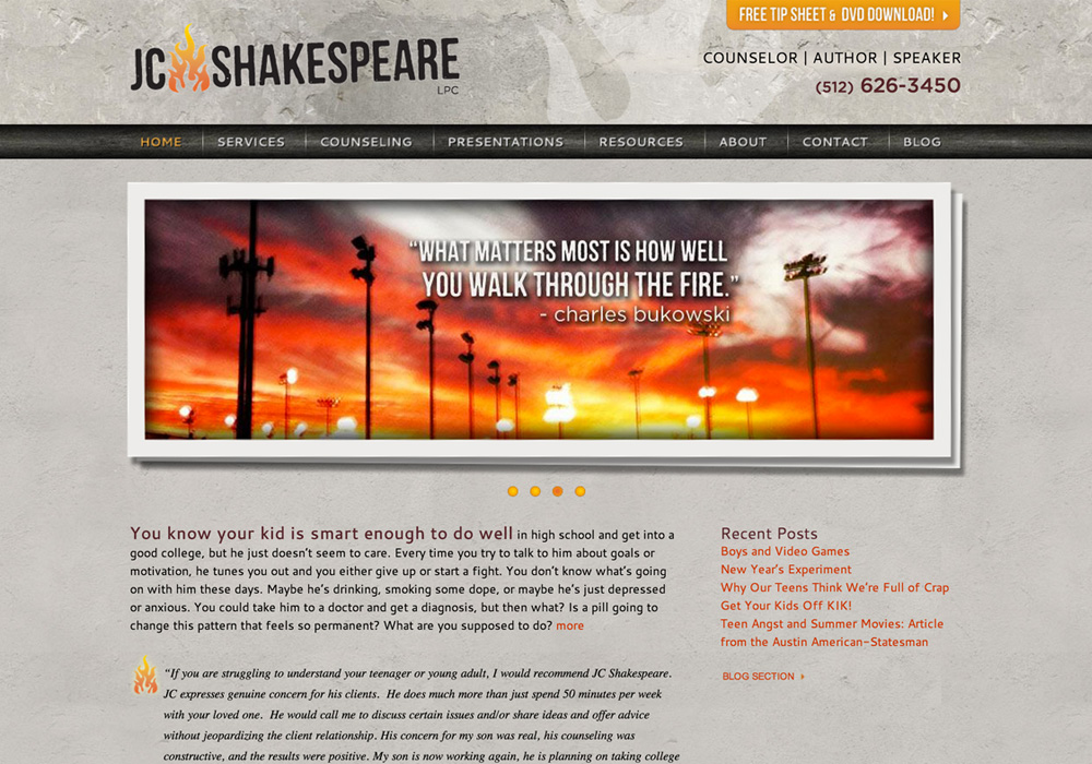 JC Shakespeare Website