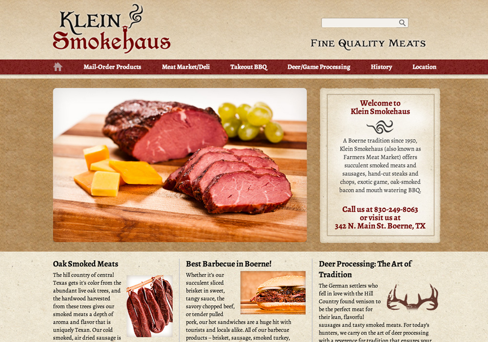 Klein Smokehaus Website