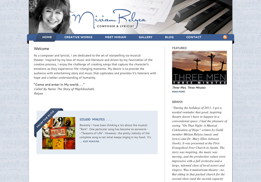Miriam Relyea Website
