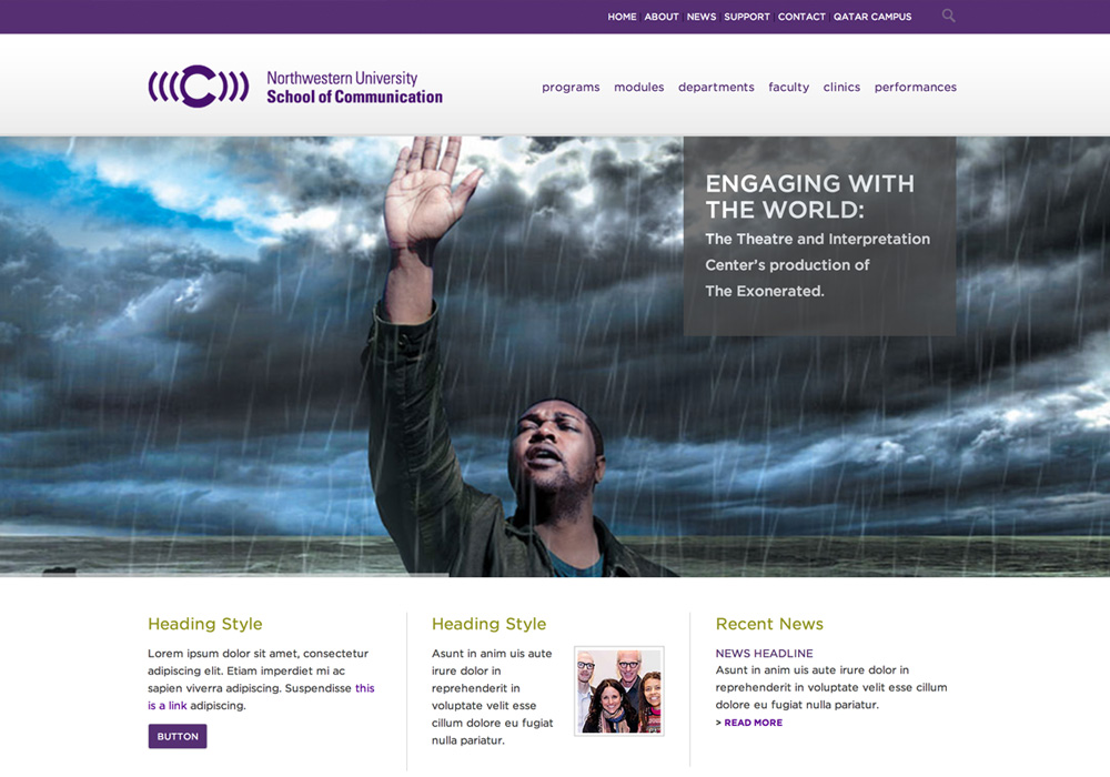 Northwestern University School of Communications Website