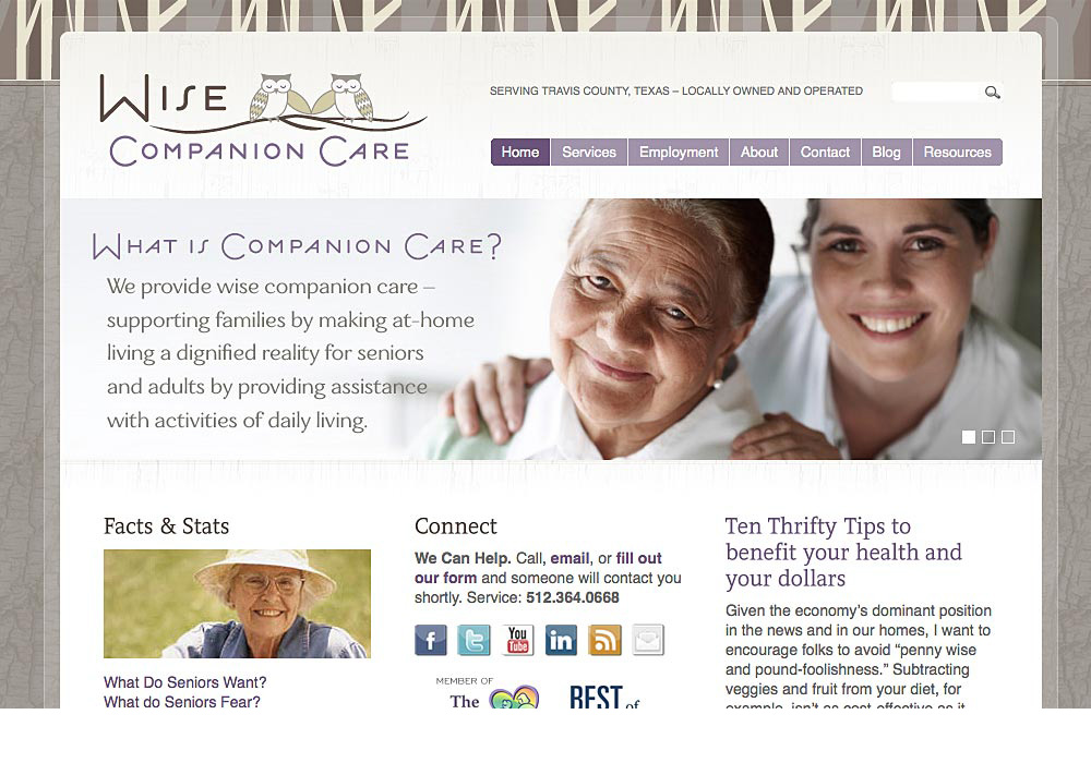 Wise Companion Care Website