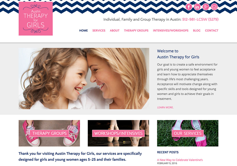 Austin Therapy for Girls Website