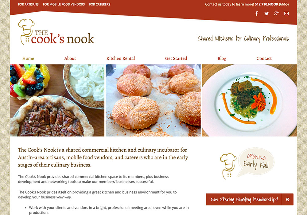The Cook's Nook Website