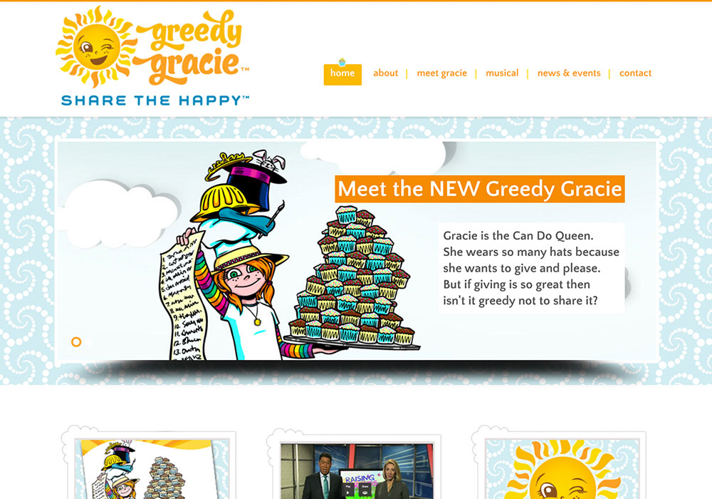 Greedy Gracie Website Design