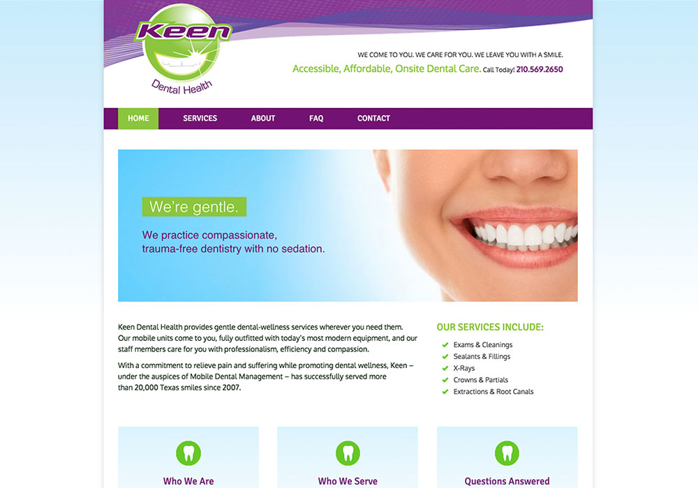 Keen Dental Health Website